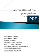 Abnormalities of Puerperium