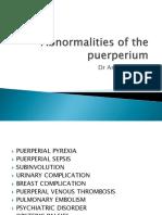 Abnormalities of Puerperium