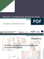 UFCD3330 – Atendimento de Clientes Na Receção