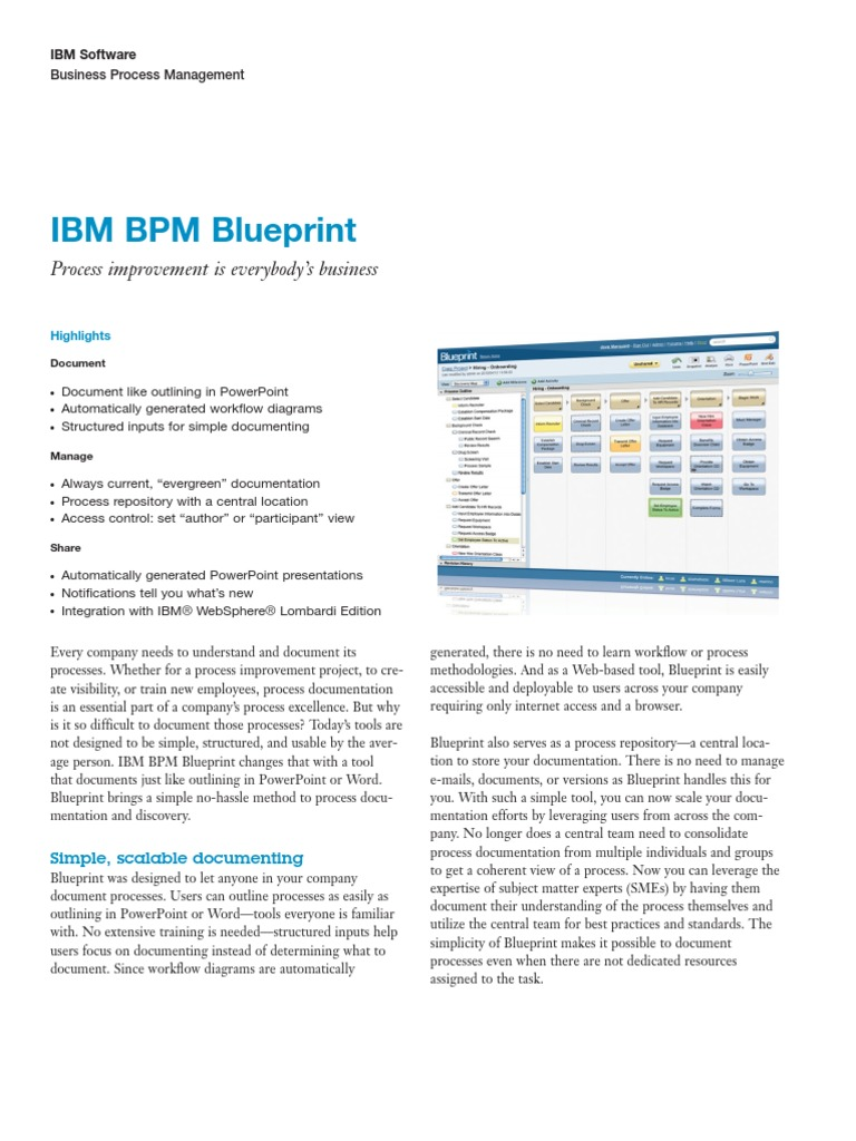 Brochure ibm bpm blueprint business process management brochure ibm bpm blueprint business process management business process malvernweather Choice Image