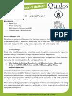 Quidos Technical Bulletin - 31/10/2017