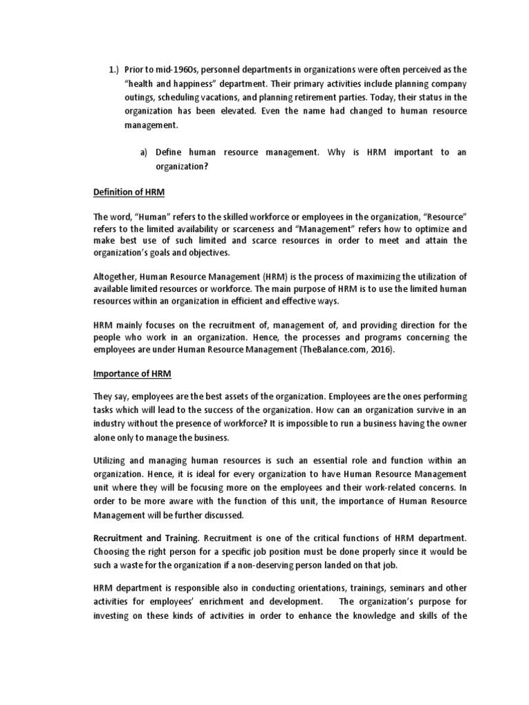 Importance of HRM | Human Resource Management | Recruitment