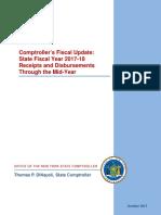 DiNapoli 2017-18 Budget Midyear Report