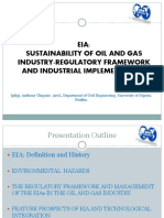 EIA for Oil and Gas E&P:Nigerian Regulatory Framework and Industrial Implementation