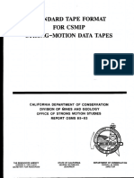 Standard Tape Format for CSIMP
