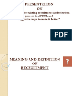 Recruitment and Selection Process by Debasish Choudhury