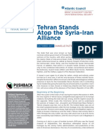 Tehran Stands Atop the Syria-Iran Alliance