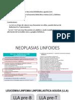 PATOLOGIA DE LEUCEMIA LINBOFLASTICA AGUADA