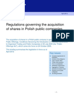 CB Regulation Governing the Acquisition of Shares in Polish Public Companies 6031525