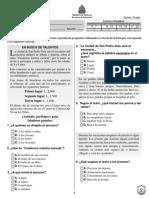 Prueba Diagnstica 5 Espaol 2011