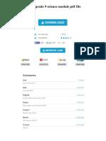 Deped Grade 9 Science Module PDF File