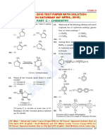 Jee Main 2015 Paper With Solutions Chemistry Allen