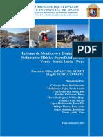 Informe de Monitoreo de Sedimentos
