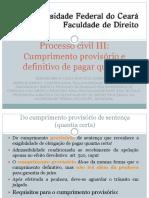 AULA 7 - Cumprimento Provisório e Definitivo de Sentença Que Reconhece Obrigação de Pagar Quantia Certa (Profa. Brena)