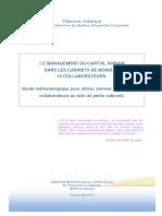 8hczs-Memoire Management Du Capital Humain Dans Les Cabinets de Petite Taille