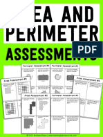 Are a and Perimeter Assessments 5 Each With Key