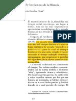 Braudel y Los Tiempos de La Histotria