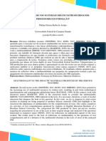 ARAÚJO, P. P. B. (2017) Multimodalidade Nos Materiais Didáticos Produzidos Por Professores Em Formação