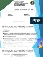 Estructura Del Informe Técnico