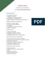 Programa - Mecánica Clásica