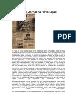 O Papel Do Jornal Na Revolução (matéria Jornal Inverta)