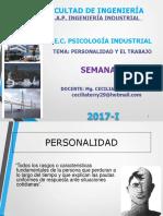 Semana 05 Personalidad y El Trabajo Psi Ind x Ciclo 2017 - i