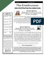 Apr-May 2007 Roadrunner Newsletter El Paso Trans Pecos Audubon Society