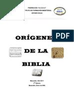 Origenes Biblicos