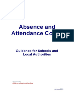 Absence and Attendance Codes
