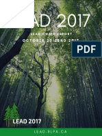 LEAD 2017 Chair Report