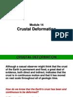 Module 14 - Crustal Deformation