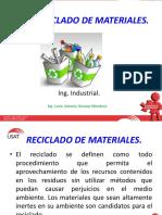 Reciclaje de Materiales.