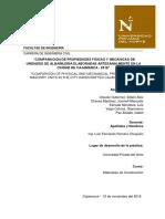 PROPIEDADES FÍSICAS Y MECÁNICAS DE UNIDADES DE ALBAÑILERIA
