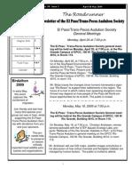 Apr-May 2009 Roadrunner Newsletter El Paso Trans Pecos Audubon Society
