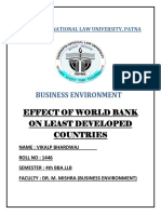 Effect of World Bank on Less Developed Countries.word