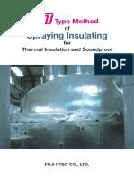 Method of Spraying Thermal Insulation