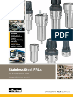 Parker Pneumatic Stainless Steel FRL Catalogue PDE2504TCUK