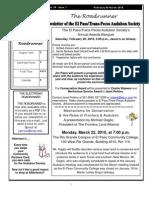 Feb-Mar 2010 Roadrunner Newsletter El Paso Trans Pecos Audubon Society