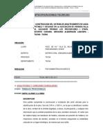 ESPECIFICACIONES TECNICAS SANEAMIENTO