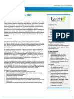 Talend Solution Brief