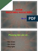 Khám Mạch Máu Ngoại Biên