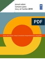 (A) Informe de Desarrollo Humano en América Latina y el Caribe (2010)