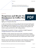Nespresso and Rivals Vie for Dominance in Coffee War - NYTimes
