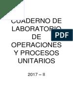 Cuaderno de Laboratorio de Operaciones y Procesos Unitarios