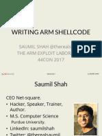 ARM Shellcode Workshop 44con2017