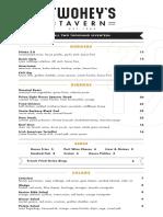 Twoheys Tavern - Dinner Menu - 11-17.pdf