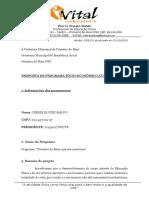 MODELO DE PROJETO SÓCIO-CULTURAL