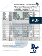 mustang 2018 varsity schedule