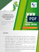 Plantilla Tendencia de Los Refractarios Basicos Para Industria de Cemento Congreso Tecnico Ficem 2013 1