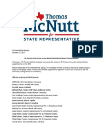 52 Current and Former Local Elected Officials Endorse Thomas McNutt